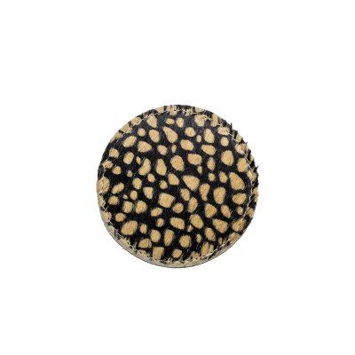 Onderzetters rond bruine cheetah print