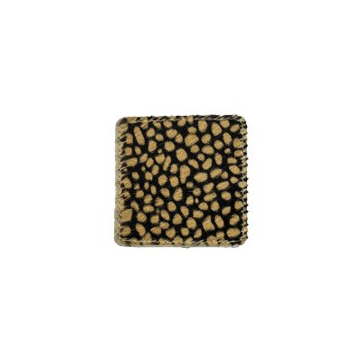 Koeienhuid onderzetters vierkant cheetah print bruin