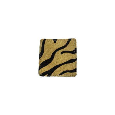 Onderzetters van koeienhuid bruin/zwart zebraprint