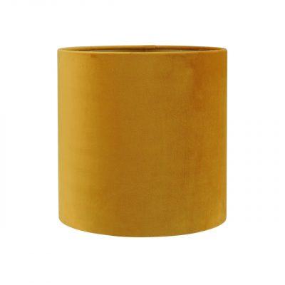 Gele fluwelen lampenkap