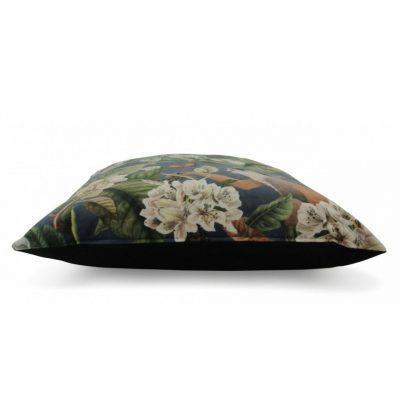 Kussen fluweel met bloemenprint
