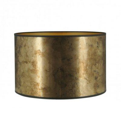 Goudkleurige lampenkap met zwarte bies