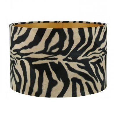 Fluwelen lampenkap met zebraprint