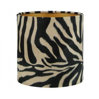 Lampenkap velvet zebraprint