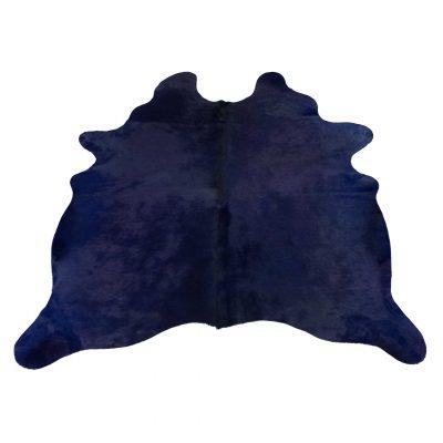 Donker blauw koeienvel