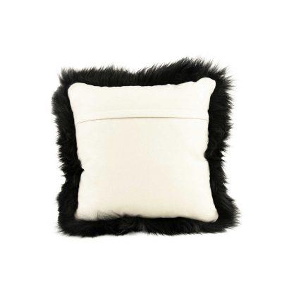 Schapenvacht kussen zwart van zachte Australische merino wol