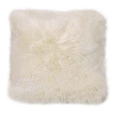 Kussen schapenvacht ivoor wit