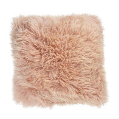 schapenvacht kussen roze
