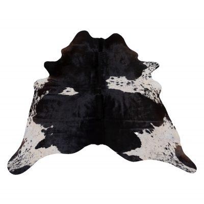 zwart met witte koeienhuid
