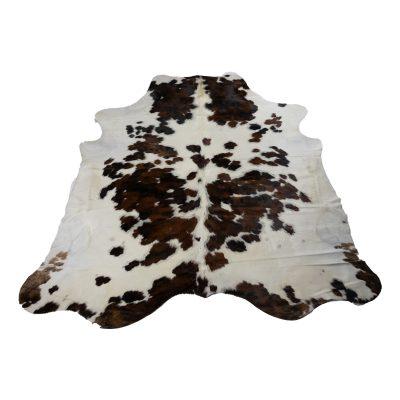 Koeienhuid wit met zwart en bruin