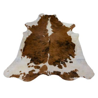 Koeienhuid tricolor bruin wit