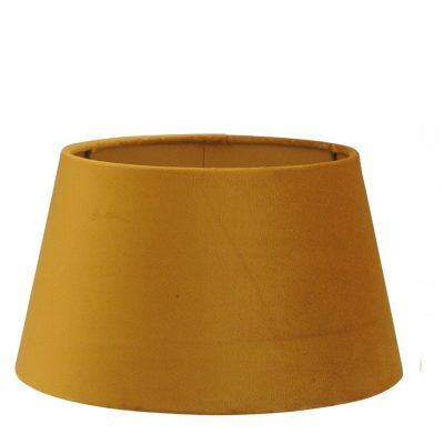 Gele velours lampenkap