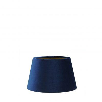 Blauwe velvet lampenkap