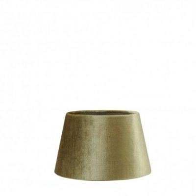 Lampenkap velvet glimmend groen taupe binnenkant halfhoog