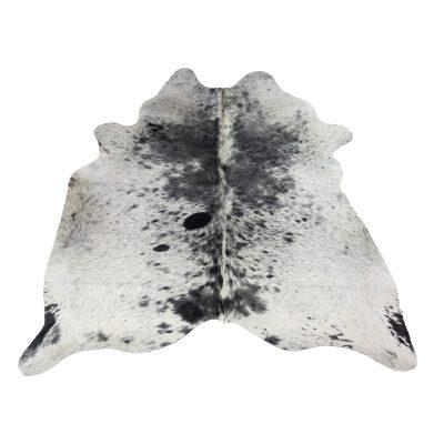 vloerkleed koeienhuid wit grijs