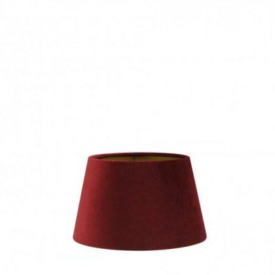 Rode fluwelen lampenkap gouden binnenkant halfhoog