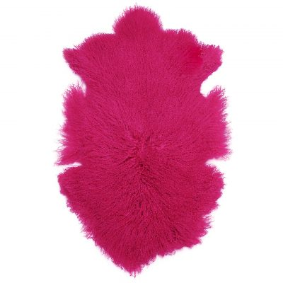 Tibetaanse schapenvacht roze fuchsia