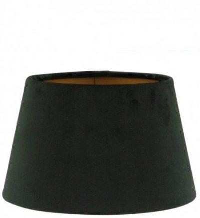 Zwarte fluwelen lampenkap gouden binnenkant halfhoog