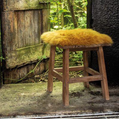 stoelpad schapenvacht