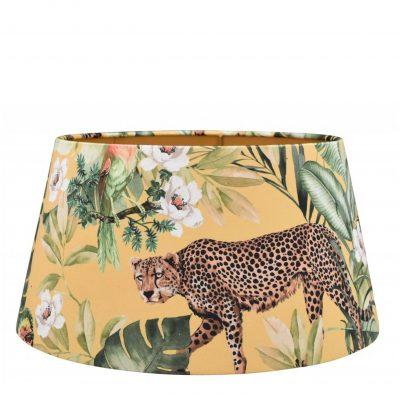 Jungle lampenkap tijgerprint fluweel