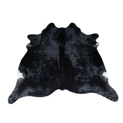 Koeienhuid zwart natuurlijke kleur