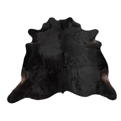 Natuurlijk zwart koeienvel