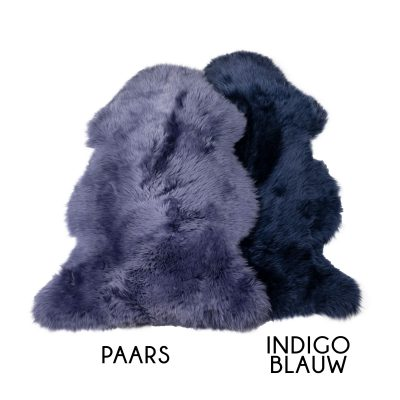 schapenvacht paars blauw