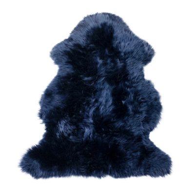 Indigo blauwe schapenvacht