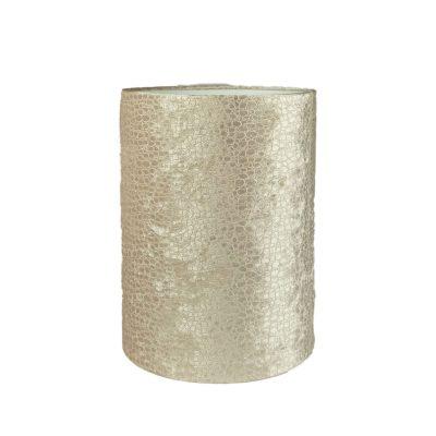 Lampenkap glanzend velvet goud croco print in relief
