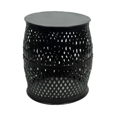 Bijzettafel zwart metaal