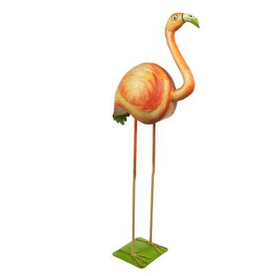 Flamingo decoratie van metaal voor binnen en buiten